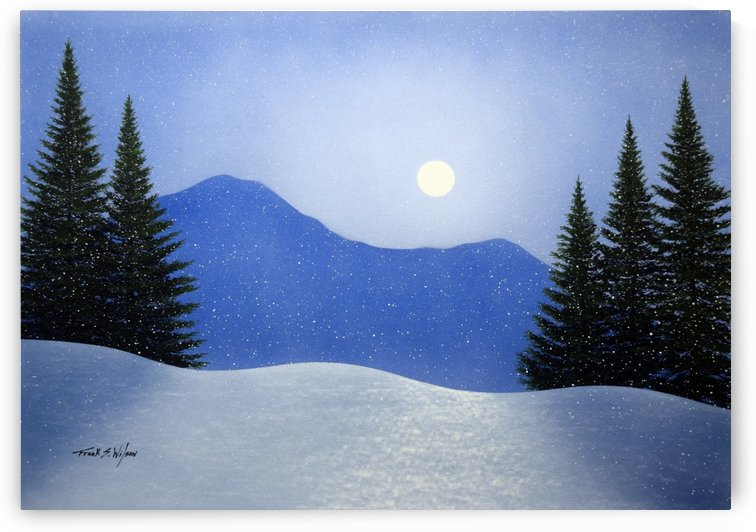 Winter Moonrise  by Frank Wilson