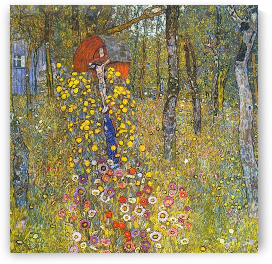 Farmers garden with crucifix by Klimt by Klimt