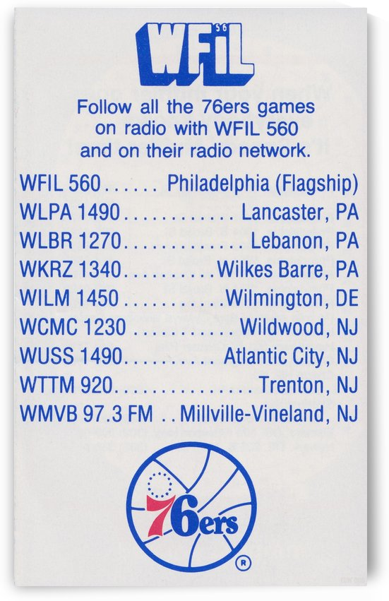 1983_WFIL Radio Ad_Philadelphia 76ers Poster_Row One Brand Vintage Sports Ads by Row One Brand