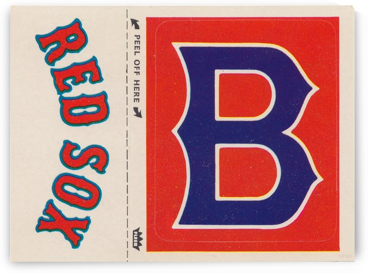 1978 Boston Red Sox Fleer Decal Poster by Row One Brand