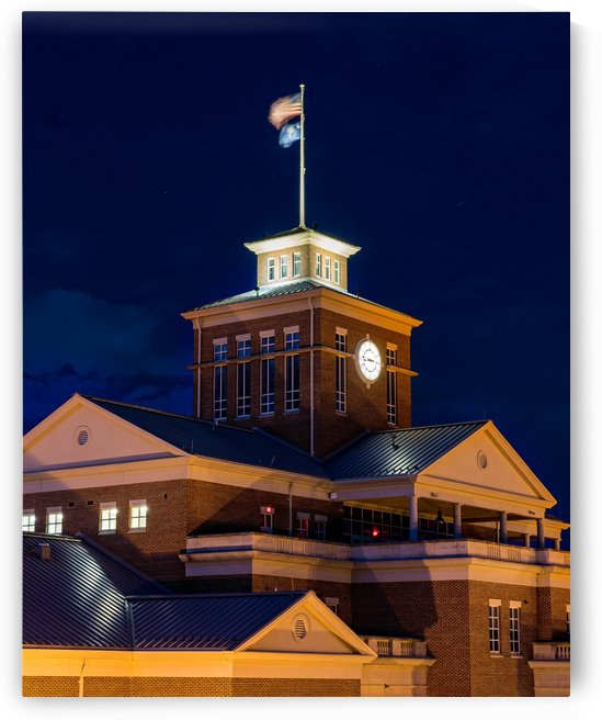 North Augusta Municipal Building at Night 5429 by @ThePhotourist