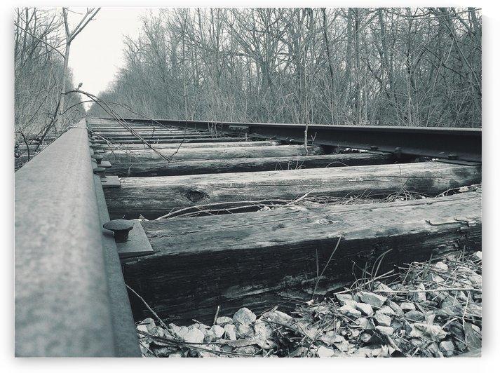 Railroad Tracks - Black & White by JTPhoto