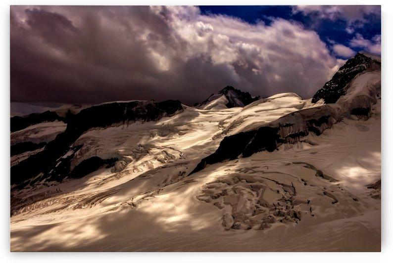 switzerland glacier mountains sky by Shamudy