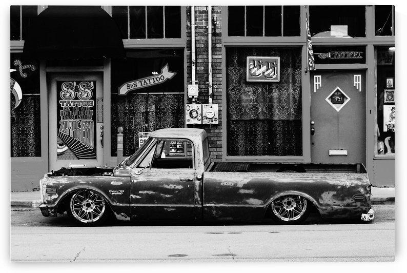 C10 parked blkwht by Lindsay Warren