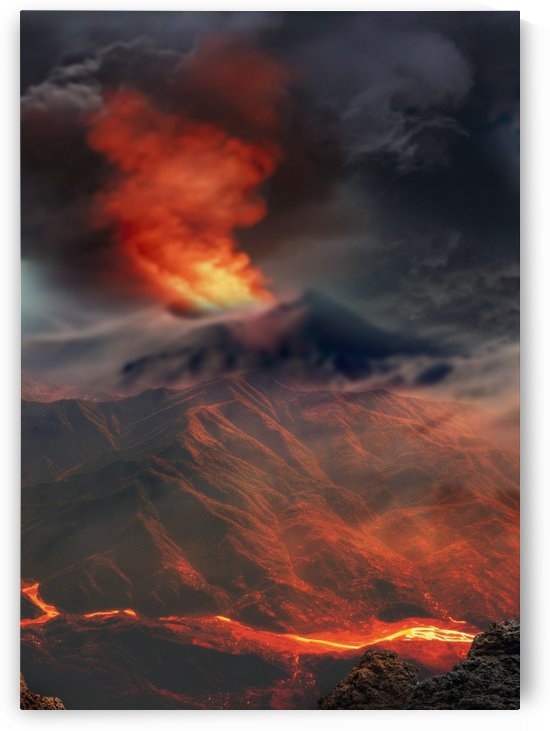 Fantasy Volcanic Eruption by Artistic Paradigms