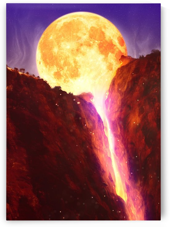 Moon Lava Waterfall by Artistic Paradigms