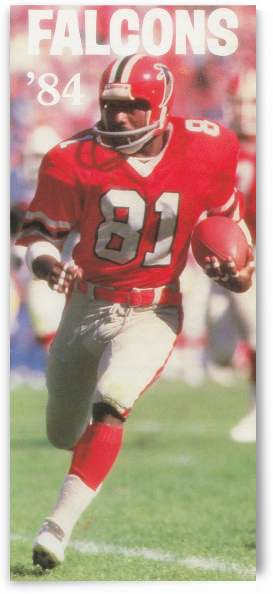 1984 NFL Atlanta Falcons Football Art Reproduction Vintage Football Helmet Photo by Row One Brand