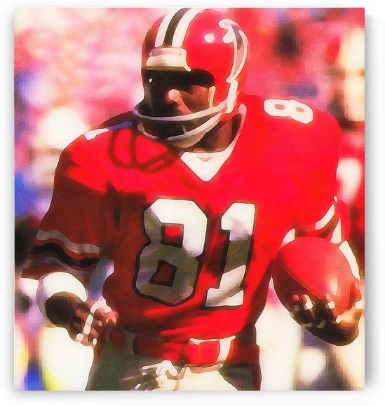 Billy _White Shoes_ Johnson Retro NFL Watercolor Art Atlanta Falcons by Row One Brand