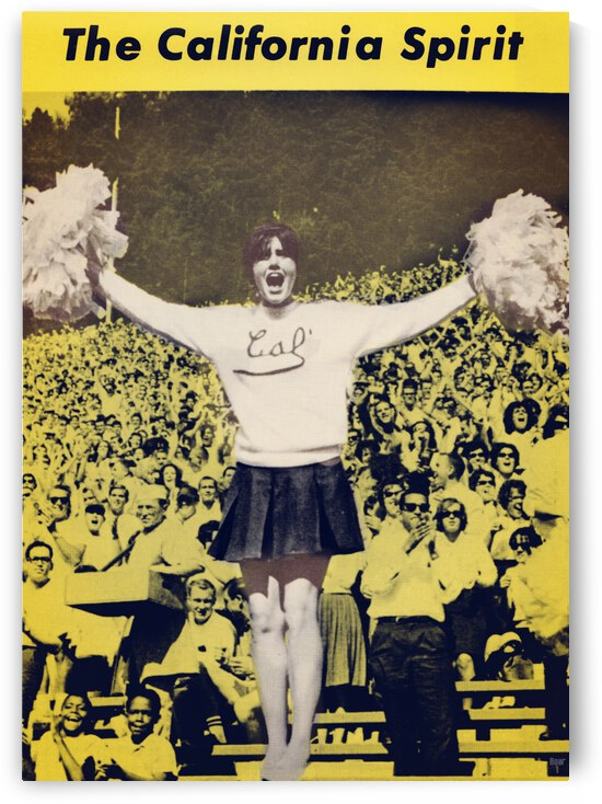 1965 California Cheerleader Photograph_Vintage College Cheerleading Uniform Photo by Row One Brand