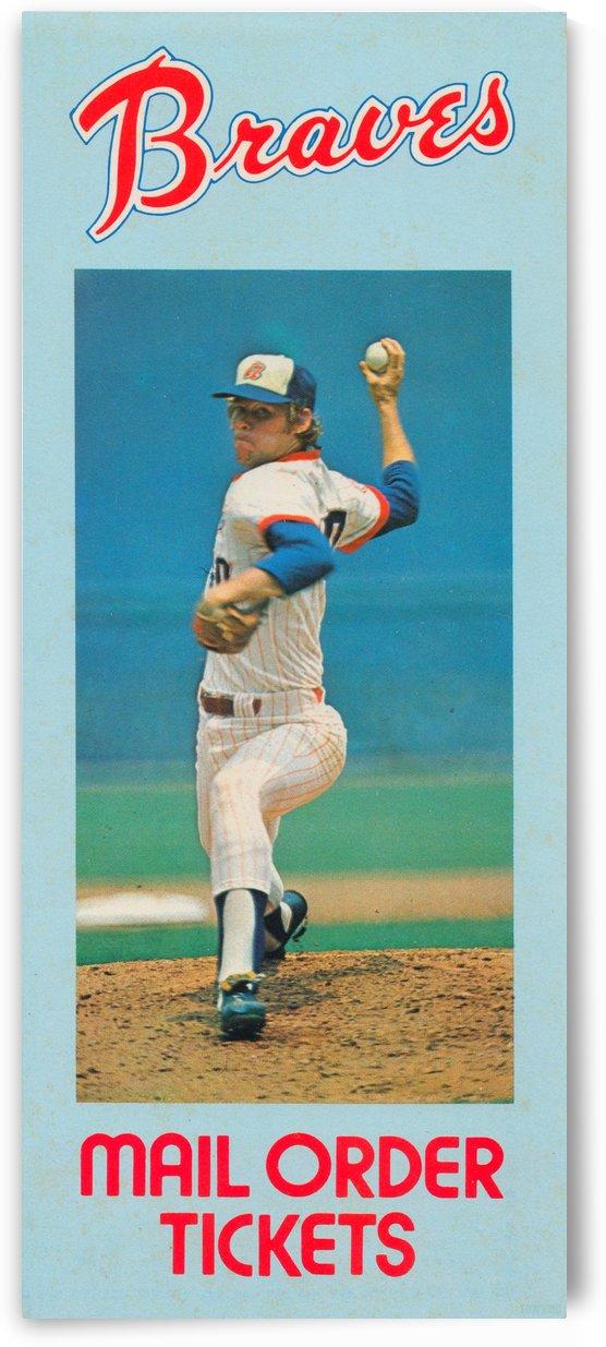 1977 Atlanta Braves Season Ticket Order Form Reproduction Baseball Art by Row One Brand