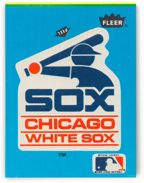 1985 Chicago White Sox Fleer Decal Reproduction Wall Art_Retro Decal Art Design by Row One Brand