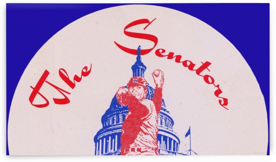 Vintage Baseball Artwork 1950s Washington Senators Art by Row One Brand