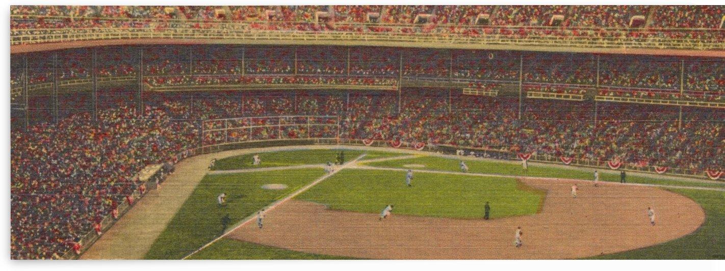 Vintage Yankee Stadium Art by Row One Brand
