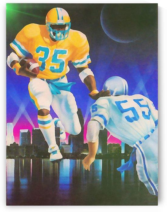 Miami 1980s College Football Retro Art Print_Unique Sports Wall Decor_Bright Art by Row One Brand