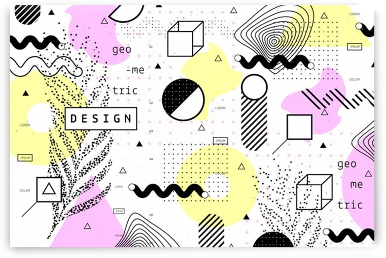 graphic design geometric background by Shamudy