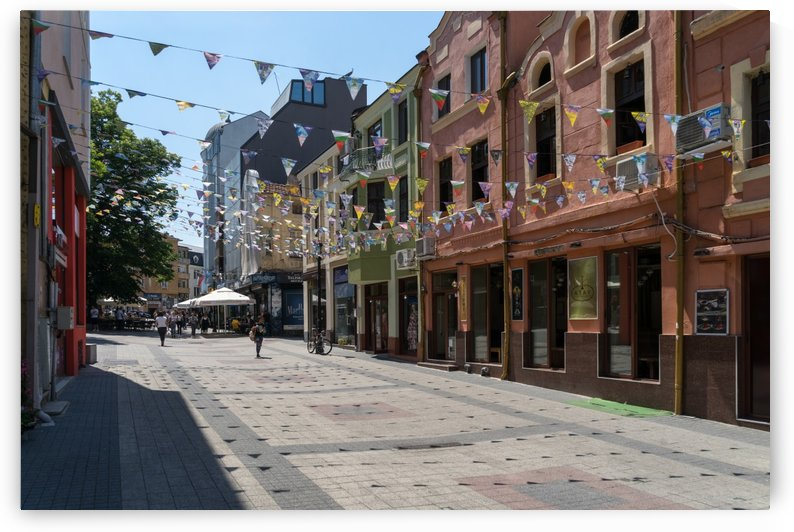 Kapana Plovdiv Pennants - Colorful Shopping Street by GeorgiaM