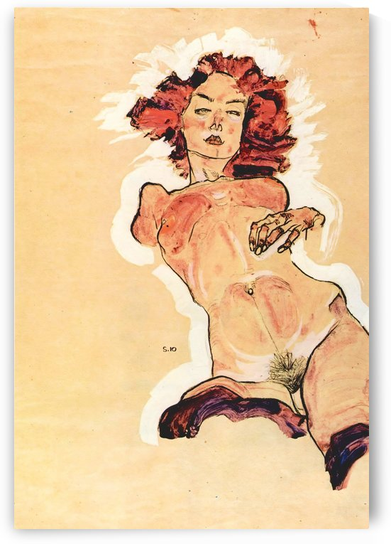 Female Act by Egon Schiele by Egon Schiele