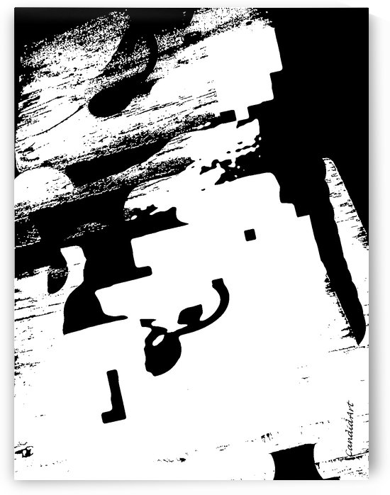 Black & White Form Texture Art D3200 1267 by Candid Art
