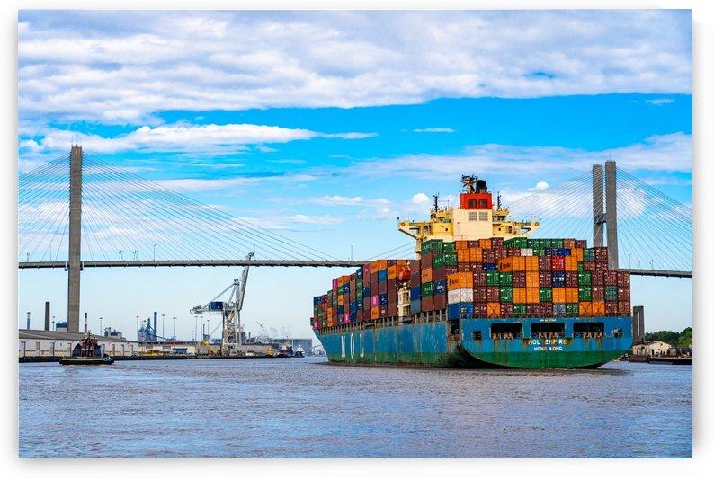 Cargo Ship on the Savannah River 04044 by @ThePhotourist