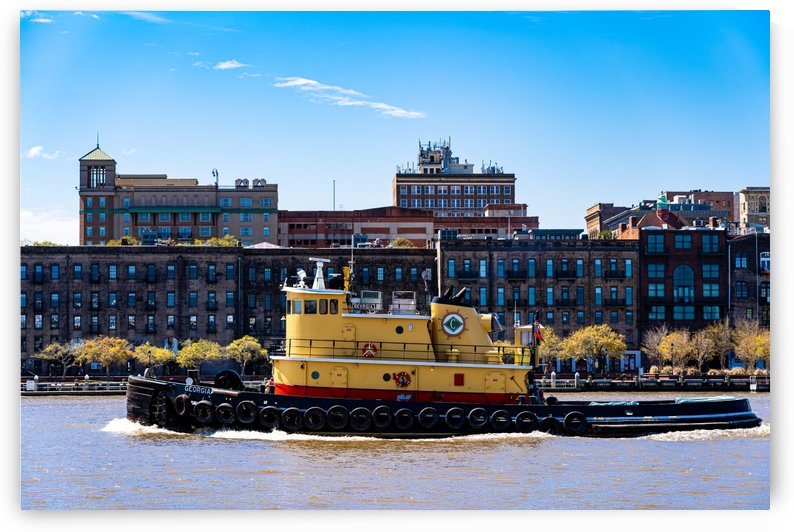 Tug Boat on the Savannah River 04343 by @ThePhotourist