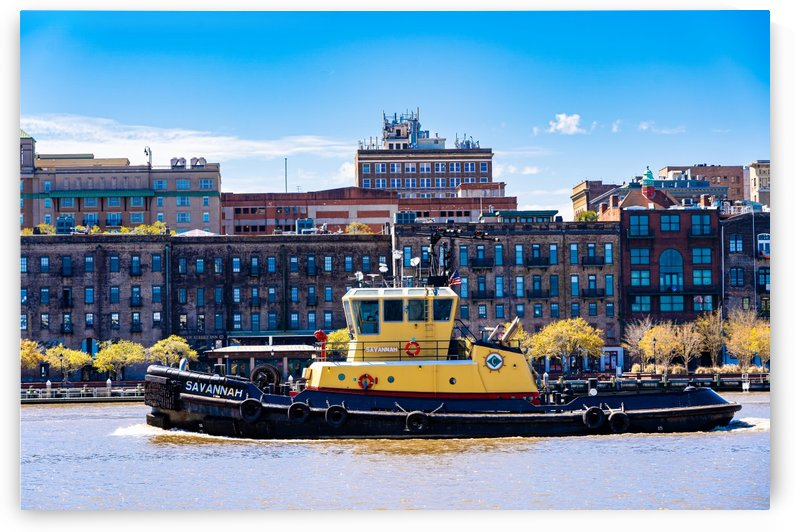 Tug Boat on the Savannah River 04327 by @ThePhotourist