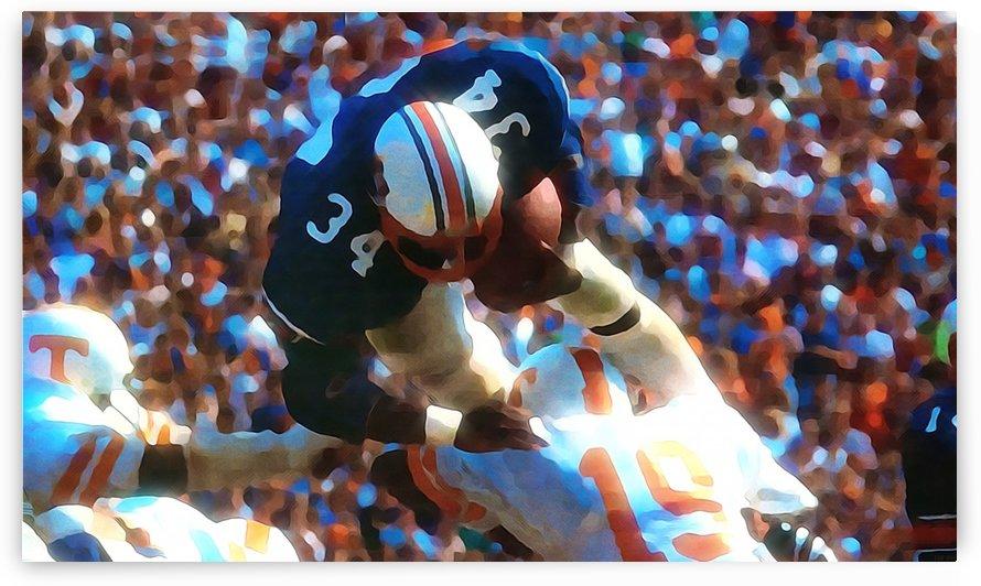 Bo Jackson Artwork_Auburn Tigers Football Fine Art_Best College Football Art by Row One Brand