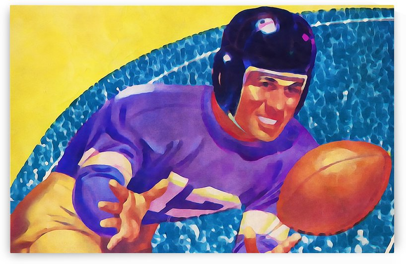 Football Art Watercolor  by Row One Brand