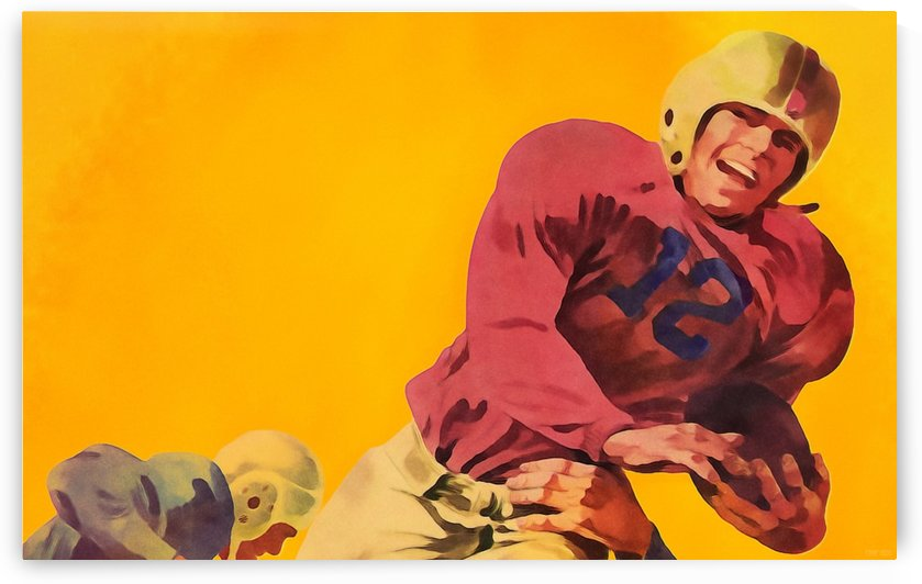 Vintage Football Artwork_Vintage Football Posters by Row One Brand