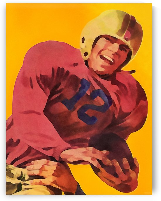 Vintage Football Poster_Football Prints Wall Art Posters by Row One Brand