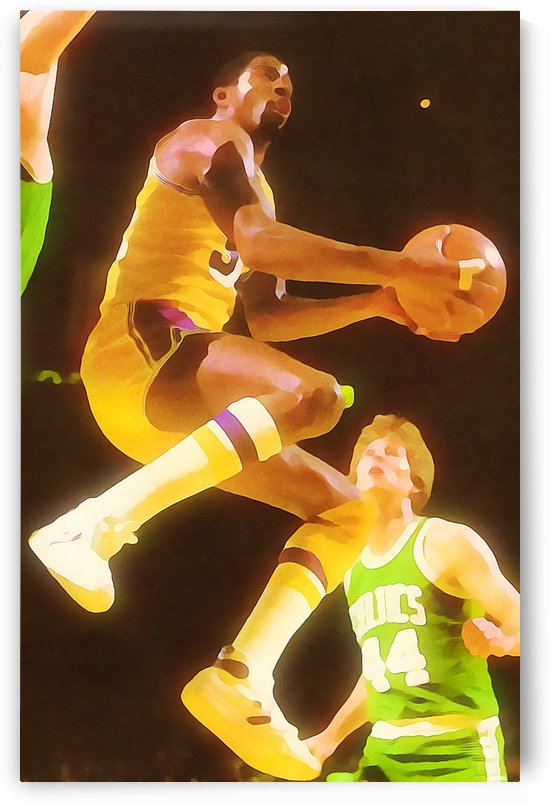 Basketball Art Magic Johnson Los Angeles Lakers Print by Row One Brand