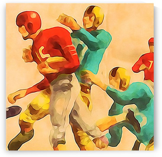 Vintage Football Jersey Art Print by Row One Brand