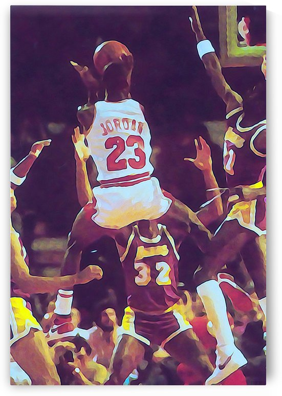 Michael Jordan Shoots Over the Lakers by Row One Brand