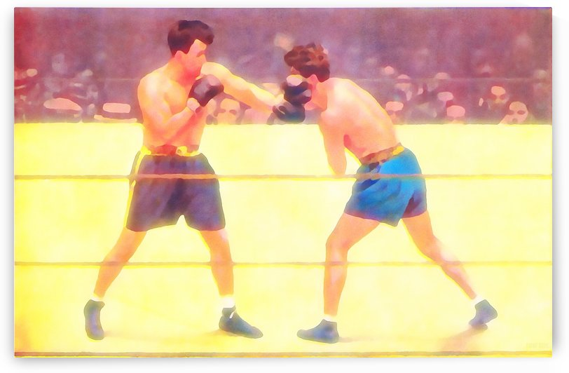 Watercolor Sports Art_Vintage Boxing Art by Row One Brand