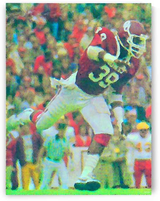 All American Kevin Murphy 39 Defensive End Oklahoma Football Art_OU Sooners Wall Art by Row One Brand