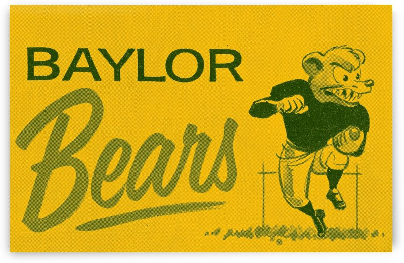 1955_College_Football_Vintage Baylor Bears Art by Row One Brand