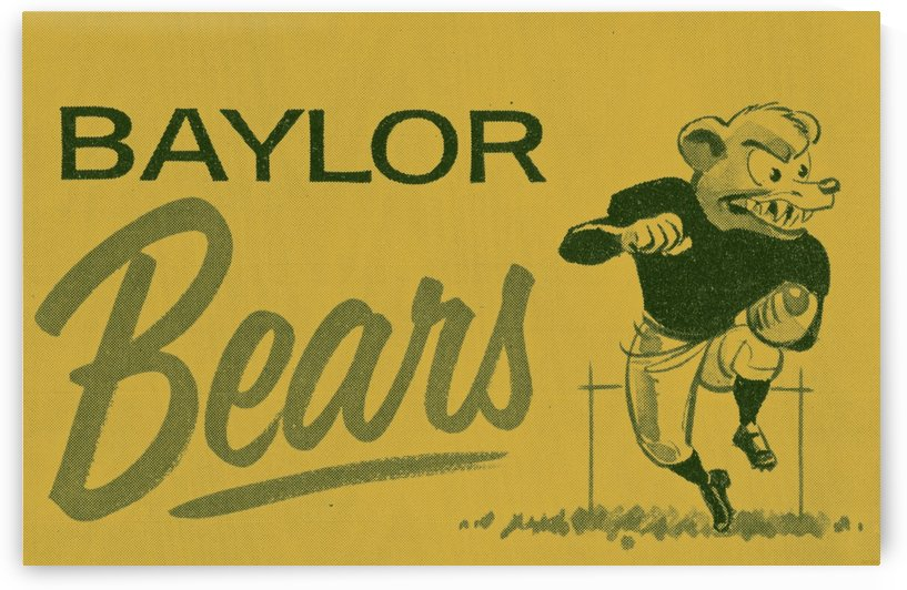 Vintage College Football_Vintage Baylor Bears Art by Row One Brand