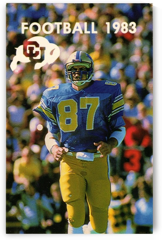 1983 College Football Art_Colorado Buffaloes Football Art Poster by Row One Brand