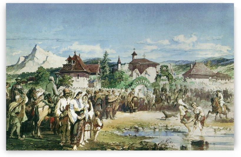 Primirea Domnitorului Carol I la Slanic Prahova by Amadeo Preziosi