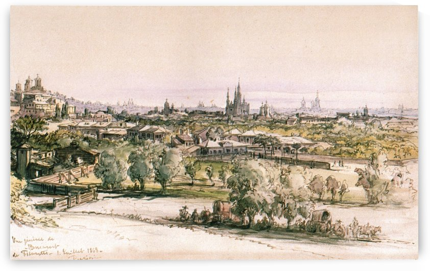 View of Bucharest from Filaret by Amadeo Preziosi