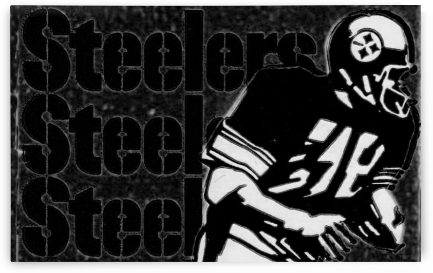 Black and White Football Art_Vintage NFL Pittsburgh Steelers Art Row One Brand by Row One Brand