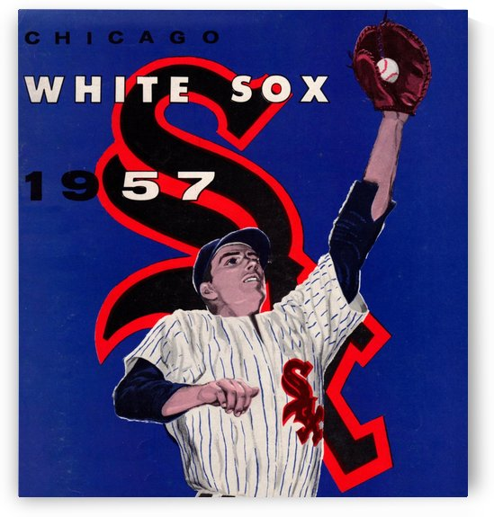 Vintage White Sox Art_Chicago White Sox Wall Art Reproduction Print_Baseball Home Decor by Row One Brand