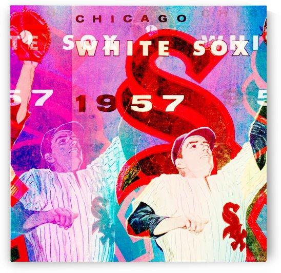 Chicago White Sox Art_Vintage Sports Art Remix_Row One Brand Vintage Sports Art Creation by Row One Brand