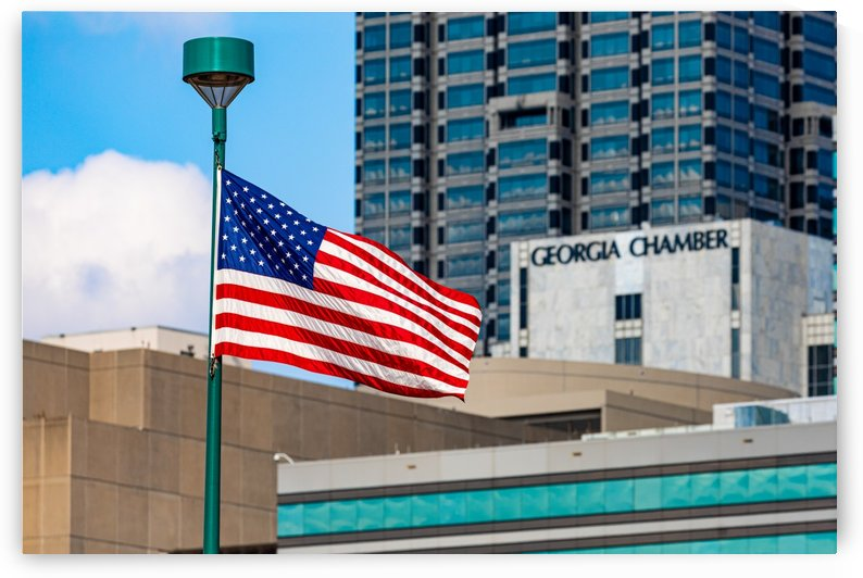 American Flag in Downtown Atlanta GA 7522 by @ThePhotourist