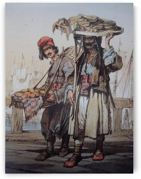 Sellers in Istanbul by Amadeo Preziosi