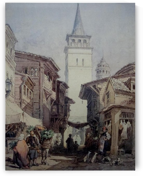 Leaving market by Amadeo Preziosi