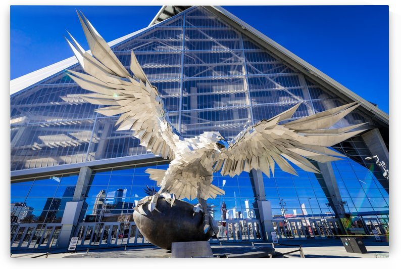 Falcon Statue at Mercedes Benz Stadium Atlanta 3552 by @ThePhotourist