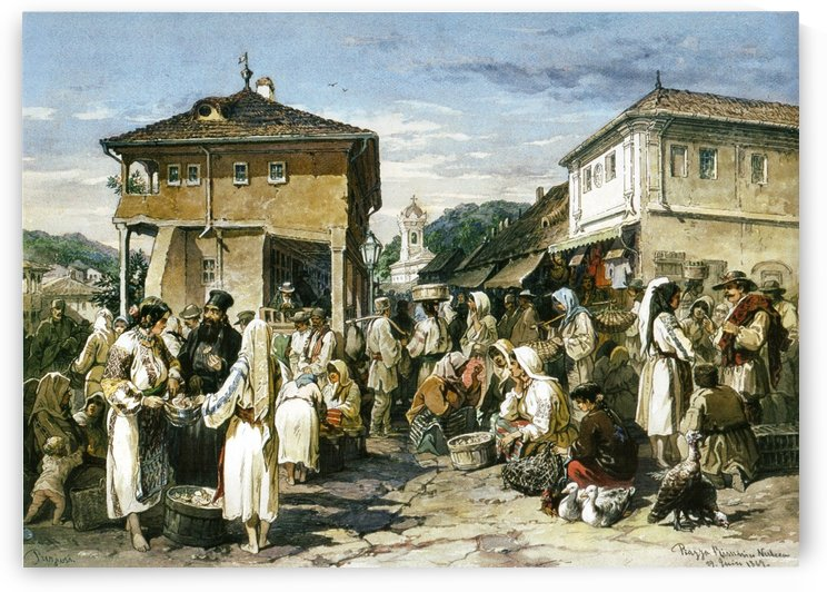 Market in Ramnicu Valcea by Amadeo Preziosi