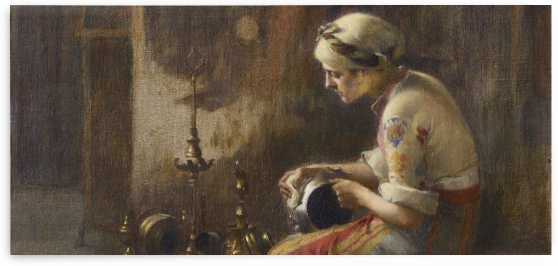 Oriental woman by Amadeo Preziosi