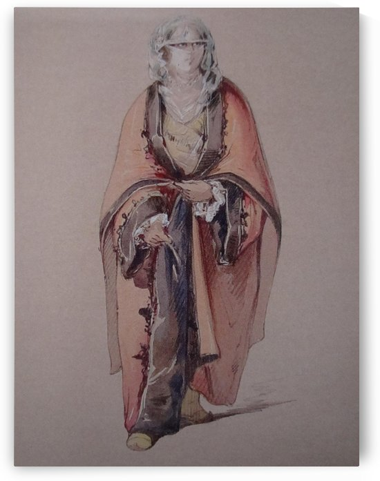 Ottoman woman by Amadeo Preziosi