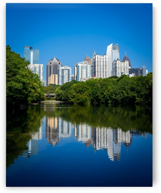 Lake Clara Meer and Midtown Skyline   Atlanta GA 4747 by @ThePhotourist